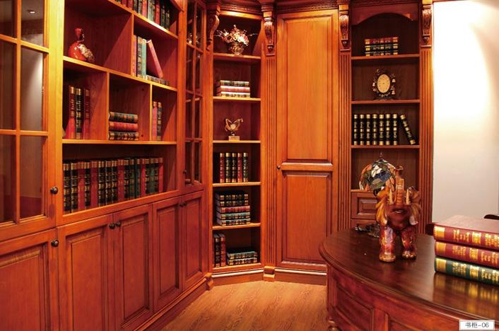 高端实木书柜