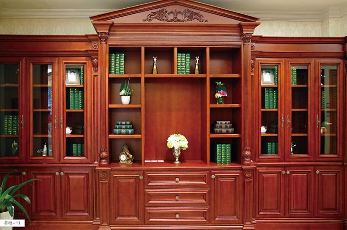 高端实木书柜定制