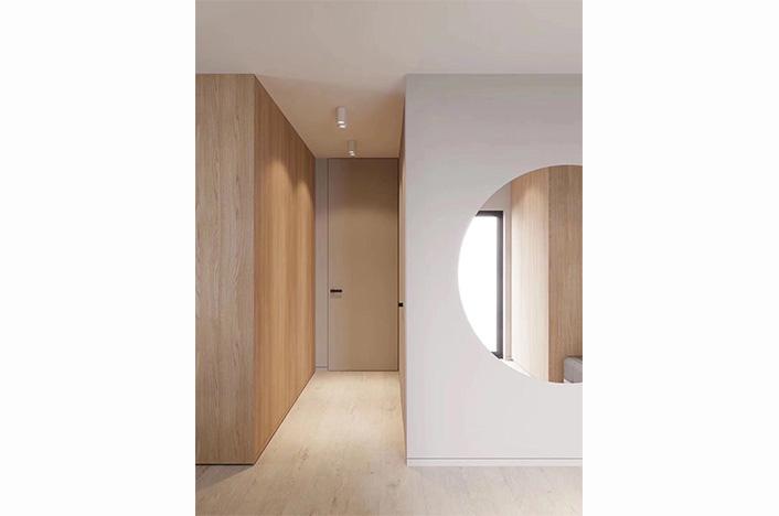 现代极简实木护墙
