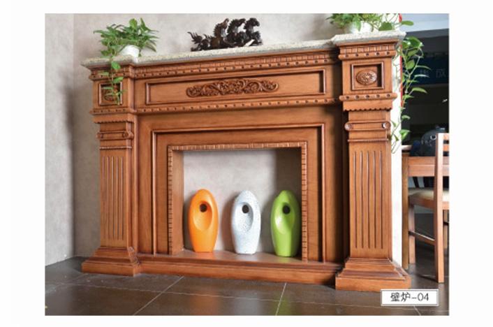 高端实木壁炉