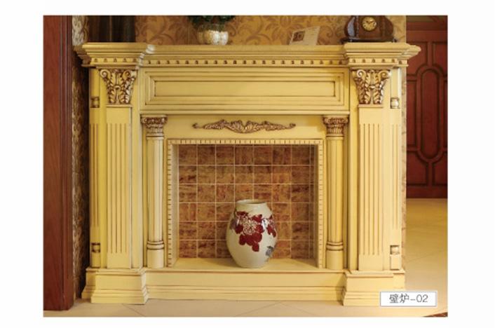 家居实木壁炉