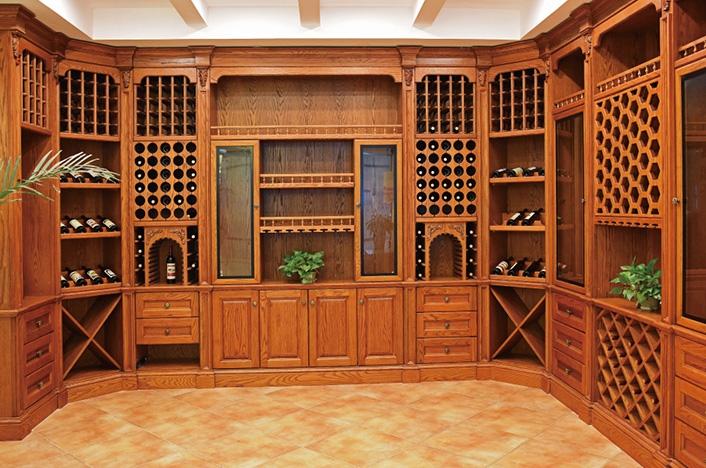 家居实木酒窖