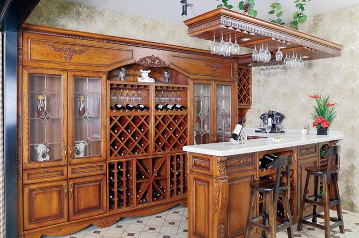 家居实木酒柜