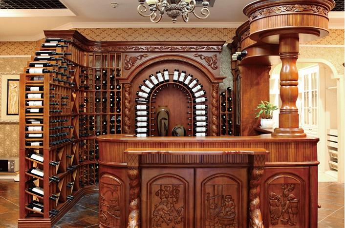 高端实木酒柜